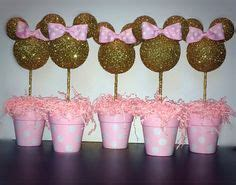pink  gold minnie mouse celebration birthday party