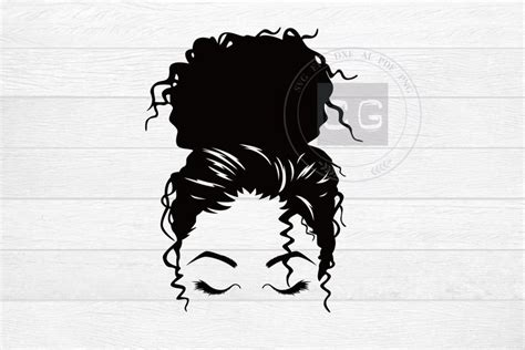 Free downloads include svg, dxf, png and eps files for personal use. Charm Messy Bun svg png eps hair style svg mom life svg | Etsy