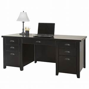 Martin Furniture Tribeca Loft Double Pedestal Wood