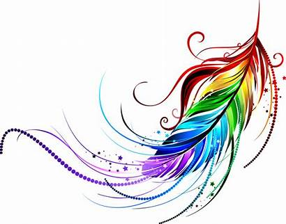 Rainbow Angel Feather Clipart Wings Jellyfish Tattoo