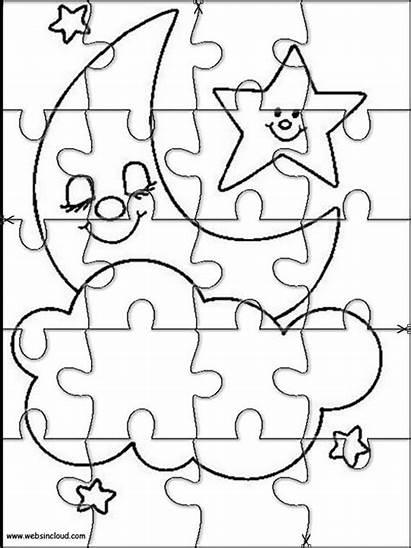 Jigsaw Coloring Pages Puzzle Printable Puzzles Cut