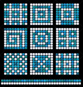 Square Mosaic Pattern Backgrounds Set | GraphicRiver