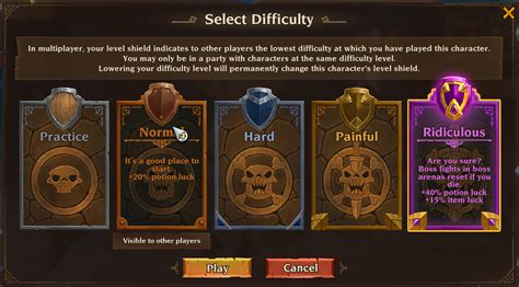 difficulty settings torchlight