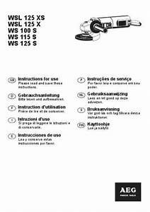 Aeg Wsl 115 Xs Tools Download Manual For Free Now