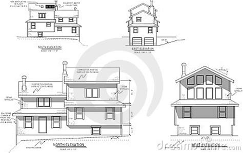house plans elevation view stock photography image