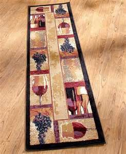 decorative wine grape themed nonskid area accent or runner