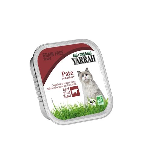 p 226 t 233 bio boeuf avec chicor 233 e pour chat 100g yarrah green shop ch