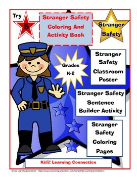 stranger safety for preschoolers safety coloring and activity book word work 504
