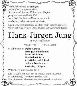 Super Sonntag Wittenberg : traueranzeigen von hans j rgen jung ~ Watch28wear.com Haus und Dekorationen