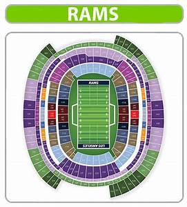 Coliseum Seating Chart Rams Los Angeles Rams Seating Chart
