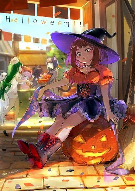 hero academia uraraka ochako anime halloween anime