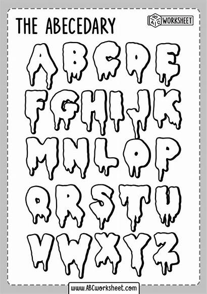 Alphabet Coloring Worksheet Worksheets Lettering Letters Abecedary