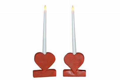 Candles Candle Heart Flameless Holder Valentines Led