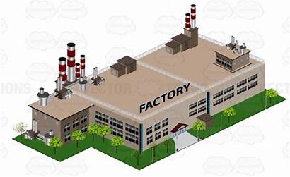 Factory Building Smoke Stacks China Clipart Factories