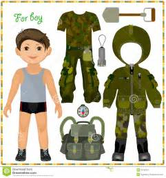 Boy Paper Doll Template Clothes