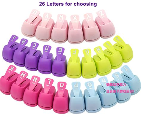 1PC Alphabet shaped save power paper/eva craft punch