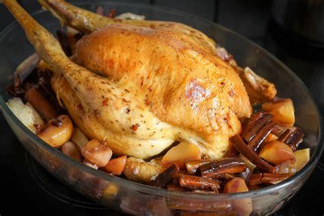 comment cuisiner un roti de dinde dinde rôtie ou chapon rôti au four recette de la dinde rôtie ou du chapon rôti pour noël par