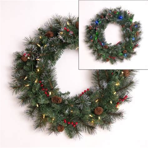 battery operated christmas wreaths with timer christmas