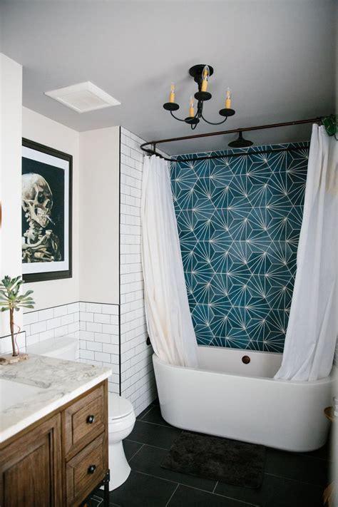 Teal Shower Tile Surround  Black  Wood