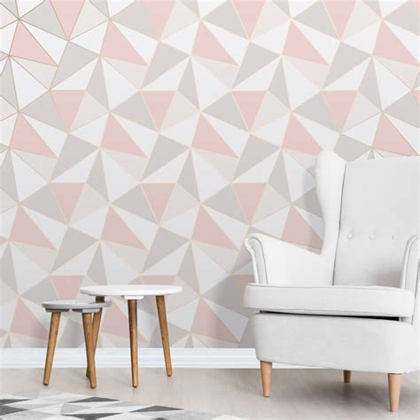 apex rose gold geometric wallpaper harry corry limited