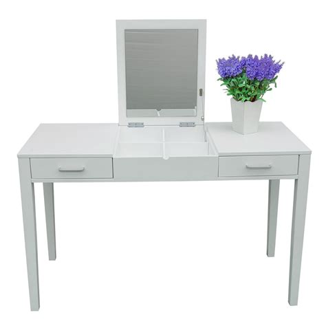 white makeup desk with 47 quot l vanity makeup dressing table desk make up lift top
