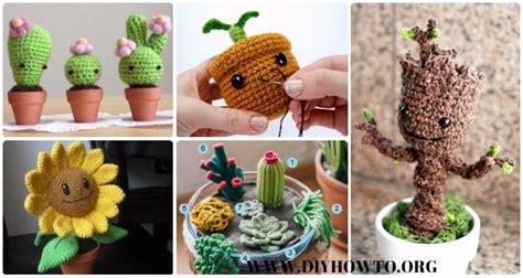 crochet amigurumi plant  patterns
