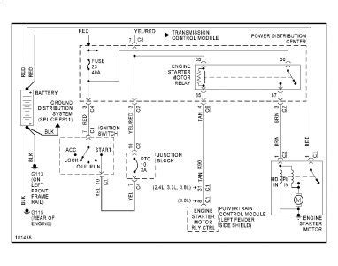 Wiring Diagram 1996 Plymouth Voyager by 1999 Plymouth Voyager Starter No Power To Small Wire At