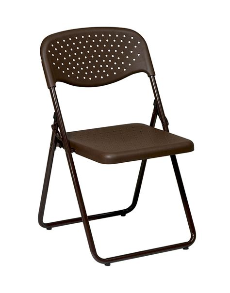 commercial brown metal resin folding chair bar