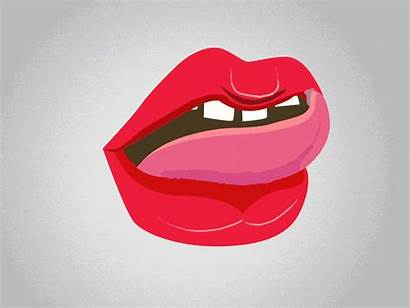 Lips Tongue Mouth Animation 2d Dribbble Heather
