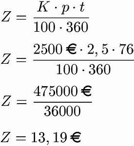 Zinsrechnung Tage Berechnen : tageszinsen berechnen formel beispiele und definition ~ Themetempest.com Abrechnung