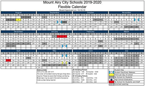 calendars academic year mount airy city schools mount airy