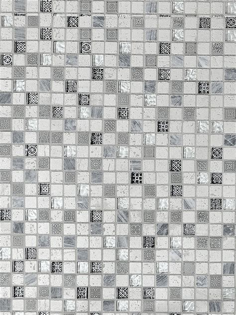 Silver Gray Travertine Glass Mosaic Tile   Backsplash.com