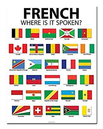 "Amazoncom French Speaking Countries  20"" X 26"