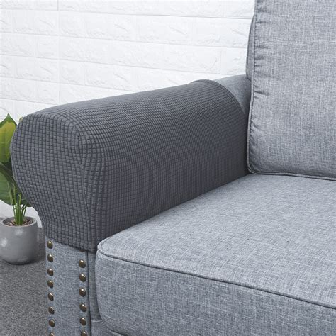 Armchair Cover Set by Flannel Spandex Stretch Armrest Covers Set Of 8