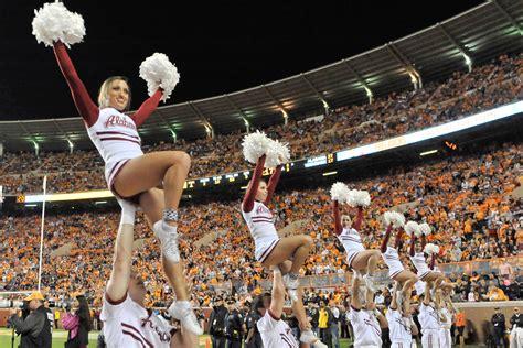 photo alabama cheerleaders show support  lsu fan