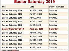 When is Easter Saturday 2019 & 2020? Dates of Easter Saturday