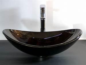 Waschbecken Oval Aufsatz : nero badshop aufsatz glas waschbecken schwarz braun oval online kaufen ~ Orissabook.com Haus und Dekorationen
