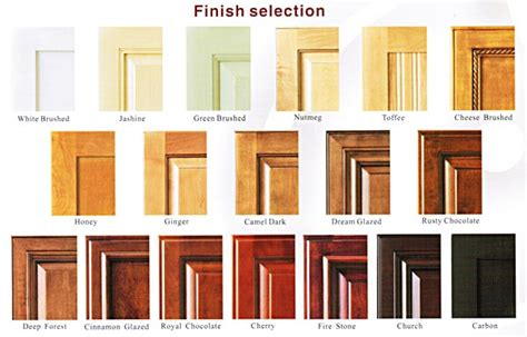 types of kitchen cabinet finishes wolf designs jewelry box canada bedroom end table