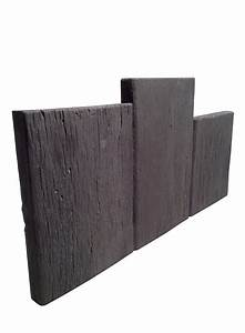 bordure jardin en pierre reconstituee planche apparence With amenager un jardin en longueur 10 bordure de jardin en pierre reconstituee planche apparence