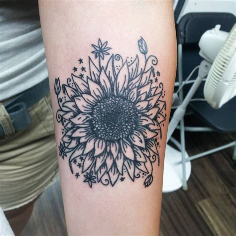 bright sunflower tattoos designs meanings