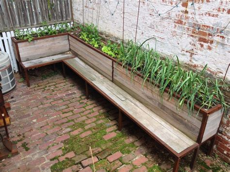 backyard planter  seating  steps  pictures