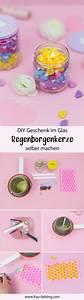 Wax Selber Herstellen : diy geschenk regenbogenkerze im glas kerzen selber ~ A.2002-acura-tl-radio.info Haus und Dekorationen