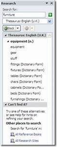 thesaurus in microsoft word With documents thesaurus