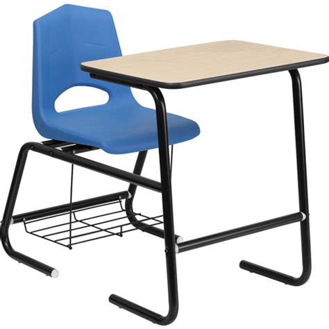student desk chair combo flash furniture flash furniture hercules series black