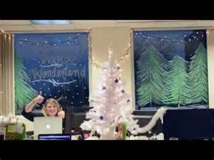 Office Holiday Cubicle Decorating Contest by Winter Wonderland Office Decorations Youtube