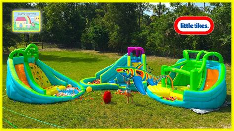 Biggest Inflatable Water Slide Park In Our Backyard