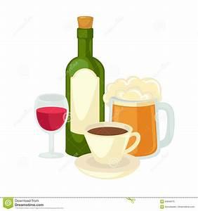 Weinglas Auf Flasche : alkohol trinkt weinglas flasche wein und glasbier vektor abbildung illustration von saft ~ Watch28wear.com Haus und Dekorationen