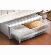 under the bed storage Plastic Under Bed Storage Drawer - Clear in Storage Drawers