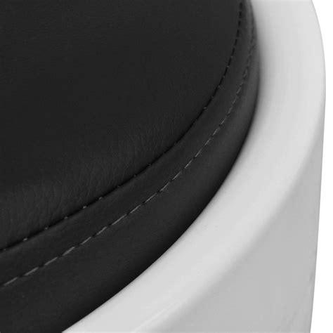 acheter tabouret abs rond blanc avec siege amovible noir