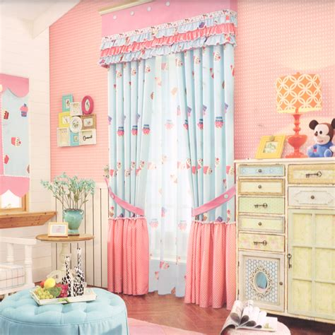 Cute Pink Blackout Curtains For Kids Room(no Valance